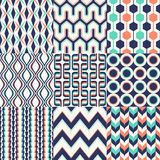 Seamless retro geometric wallpaper pattern Stock Images