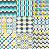 Seamless retro geometric wallpaper pattern Royalty Free Stock Photo