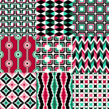 Seamless retro geometric wallpaper pattern Stock Photos