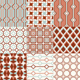 Seamless retro geometric wallpaper pattern Royalty Free Stock Image