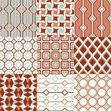 Seamless retro geometric wallpaper pattern Royalty Free Stock Image