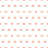 Seamless retro heart patten Stock Images