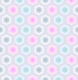 Seamless retro honeycomb pattern-2 Stock Photo