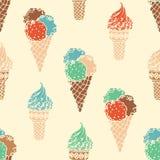 Seamless retro ice-cream pattern. Stock Photography