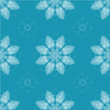 Seamless retro kaleidoscope flowers Royalty Free Stock Images