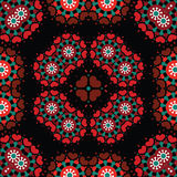 Seamless retro kaleidoscope repeating background pattern Royalty Free Stock Photos