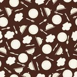 Seamless retro kitchen pattern Stock Image