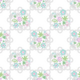 Seamless retro lace floral kids pattern texture background Stock Images