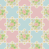 Seamless retro lace floral romantic pattern texture background Royalty Free Stock Images