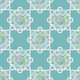 Seamless retro lace floral romantic pattern texture Stock Photo