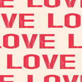 Seamless retro love pattern Royalty Free Stock Images
