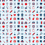 Seamless retro Medical pattern Stock Photo