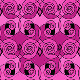 Seamless retro modern pattern ornament geometric background Royalty Free Stock Image