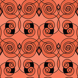 Seamless retro modern pattern ornament geometric background Royalty Free Stock Photography
