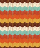 Seamless retro ocean wave pattern Royalty Free Stock Photo
