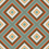 Seamless retro ornament squares  illustration Royalty Free Stock Photo