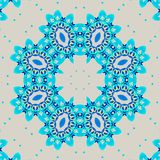 Seamless retro ornament turquoise blue and light gray Stock Photo