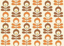 Seamless retro pattern. Illustration Stock Photography