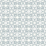 Seamless retro pattern. Seamless grey retro pattern with abstract clover shape Stock Photo