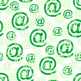 Seamless retro pattern. Vector seamless green at symbol background Royalty Free Stock Photo