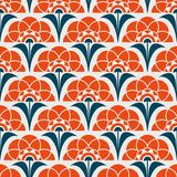 Seamless retro pattern with abstract flowers. Vector illustration Stock Photo