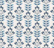 Seamless retro pattern with abstract flowers and leaves. Vector illustration Stock Photo