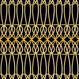 Seamless retro pattern with abstract sgold chains. Vector fashion backdrop in vintage style. Seamless retro pattern with abstract sgold chains. Vector fashion royalty free illustration