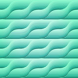 Seamless retro pattern with blue waves Stock Image