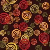 Seamless retro pattern with circles Stock Photography