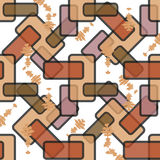 Seamless retro pattern from colored rectangles Stock Photos