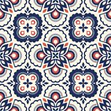 Seamless retro pattern with floral elements. Vector illustration Royalty Free Stock Photos