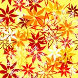 Seamless retro pattern with flowers Stock Images