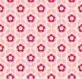 Seamless retro pattern with flowers and leaves Royalty Free Stock Photography