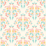 Seamless retro pattern of flowers on a pastel background Royalty Free Stock Photography