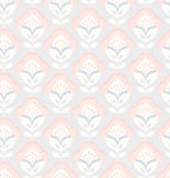 Seamless retro pattern with flowers. Vector illustration Royalty Free Stock Photography