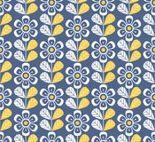 Seamless retro pattern with flowers Royalty Free Stock Images