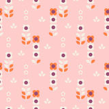 Seamless retro pattern with flowers. Vector illustration vector illustration