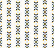 Seamless retro pattern with flowers. Vector illustration Stock Images
