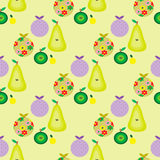 Seamless retro pattern with fruits Stock Photography