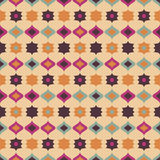 Seamless retro pattern geometrical texture background Stock Images