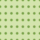 Seamless retro pattern with green circles. Vector illustration Stock Photo