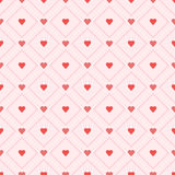Seamless retro pattern hearts. Vector eps 10 Royalty Free Stock Photo