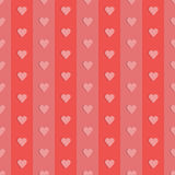 Seamless retro pattern hearts. Vector illustration Stock Images