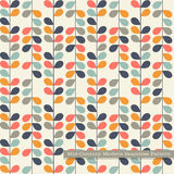 Seamless retro pattern in mid century modern style Royalty Free Stock Photo