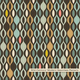 Seamless retro pattern in mid century modern style royalty free illustration