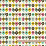 Seamless retro pattern in mid century modern style Royalty Free Stock Image