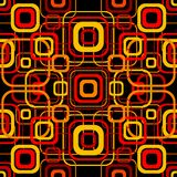 Seamless retro pattern with rounded squares Stock Images
