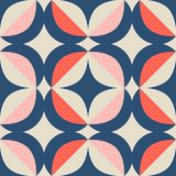 Seamless retro pattern in scandinavian style with geometric elements stock illustration