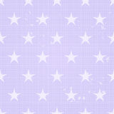 Seamless Retro Pattern with Scratch and Big Stars Stock Photography