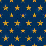 Seamless Retro Pattern with Scratch and Yellow Stars Stock Photography